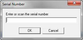 Serial Number Dialog