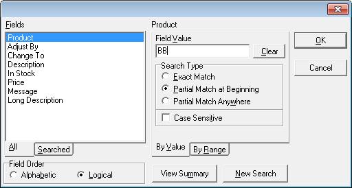 Adjust Inventory Filter