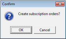 Create Subscription Orders